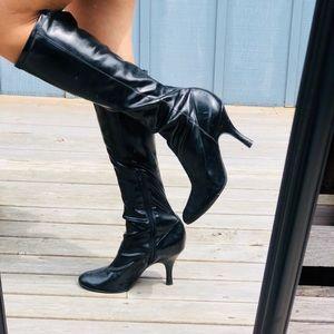 Gianni Bini Black Carrie Knee Boots 9M EUC